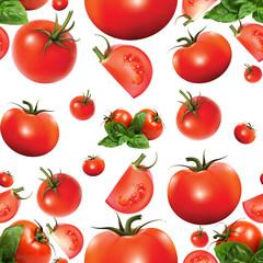 Fototapetaбесшовный фон томаты