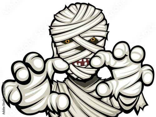 Canvas Print Vector illustration of a cartoon mummy.