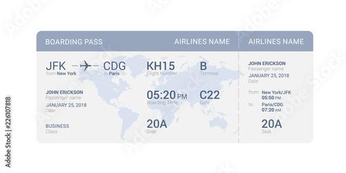 Obraz Blue boarding pass - fototapety do salonu