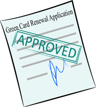 Green Card Renewal Application On The Stamp Approved