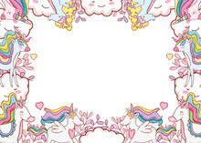 Fantasy Unicorns Frame