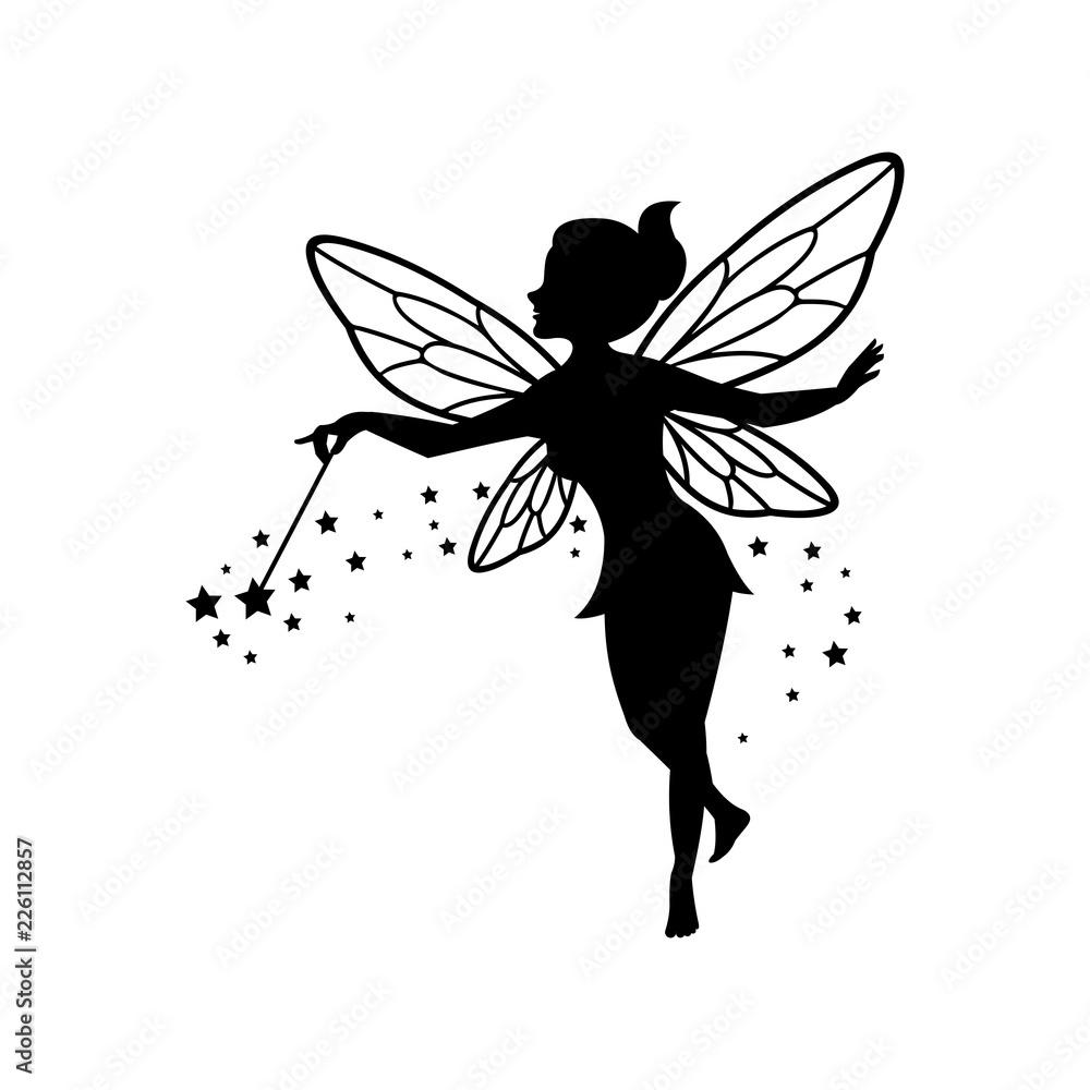 Fototapeta Beautiful Fairy Silhouette