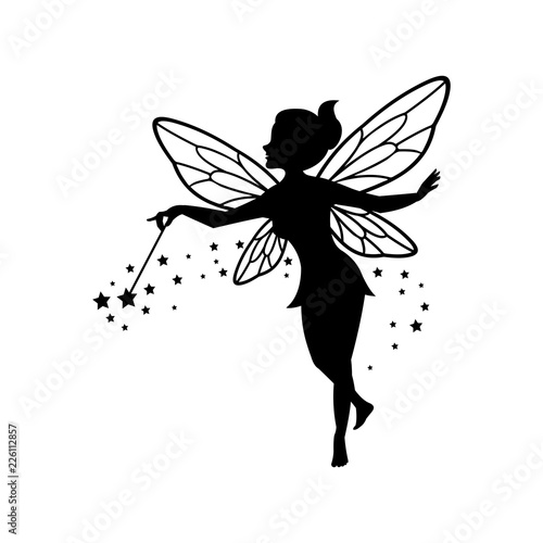 Beautiful Fairy Silhouette Wallpaper Mural