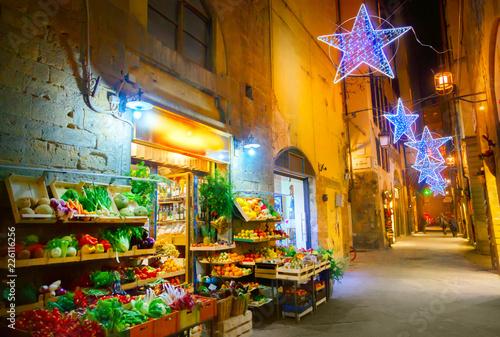 Staande foto Marokko Illuminated Christmas street in Florence