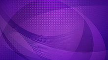 Abstract Background Of Curved Surfaces And Halftone Dots In Purple Colors