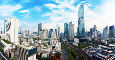 Panoramski pogled Gradski toranj u gradu Bangkoku u azijskom Tajlandu