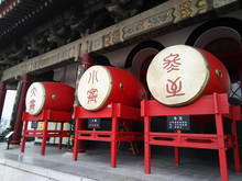 Drum Tower Drums. Landmark In China, Xian City.