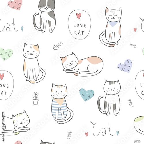Cat Doodle Wallpaper Art Wallpaper