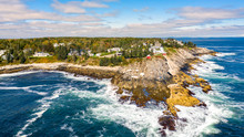 Aerial View Of Pemaquid Point ...