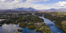 Aerial View Sacramento River Redding California Bully Choop Mountain