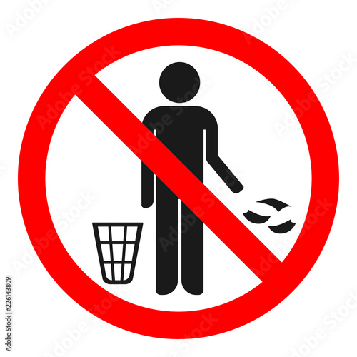 Fotografía NO LITTERING sign. Vector.