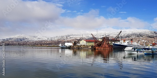 Fotobehang Zuid-Amerika land Port de Puno