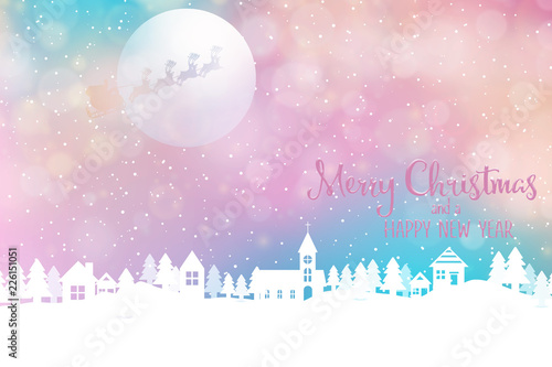 christmas and new year holiday background banner with seasonal quote scales to facebook size