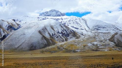 Spoed Foto op Canvas Zuid-Amerika land Montagnes enneigées de la Cordillère des Andes