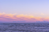 Ocean and sky at sunset, horizon line. Minimalism in the landscape. - 226156022