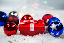 Christmas Balls In The Snow, Background