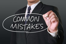Common Mistakes, Motivational Words Quotes Concept