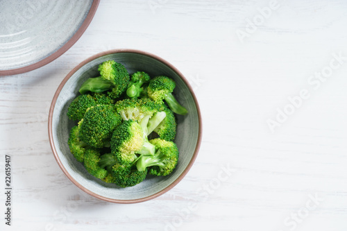 Photo Fresh steamed broccoli