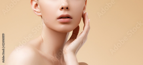 Carta da parati Beauty Spa Woman with perfect skin Portrait