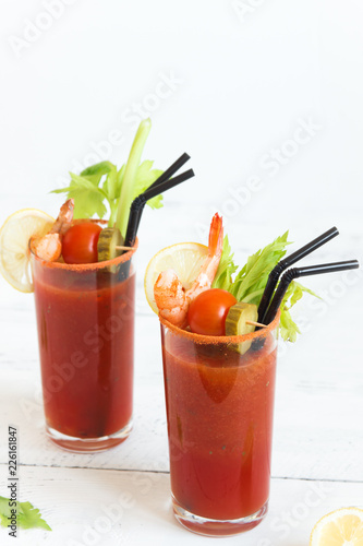 Staande foto Cocktail Bloody Mary Cocktail