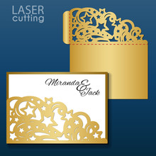 Laser Cut Wedding Invitation E...