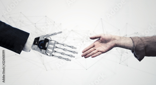 Fotografie, Obraz  ロボットと人間