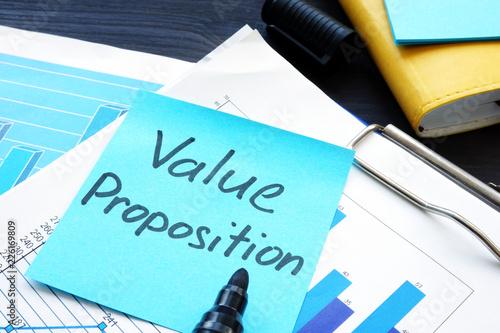 Fototapeta Value proposition. Financial documents with business figures. obraz