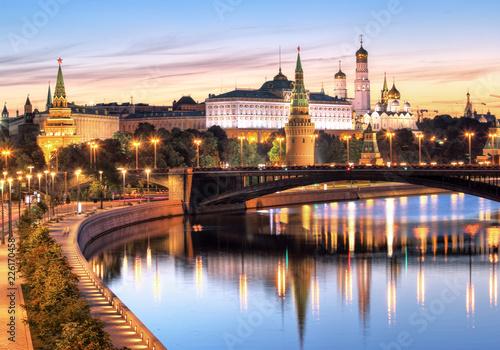 Fotobehang Aziatische Plekken Moscow, Kremlin and Moskva River, Russia