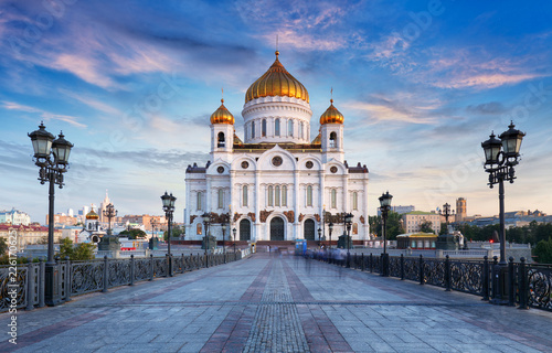 Foto op Canvas Aziatische Plekken Cathedral of Christ the Savior, Moscow, Russia