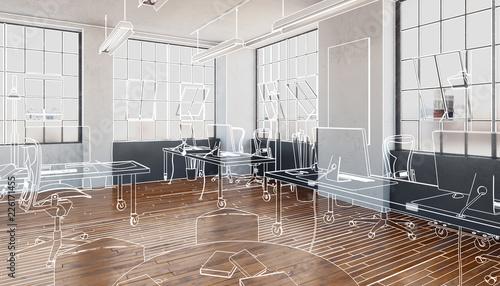 Postindustrielle Bürofläche (Konzeption) Fototapeta