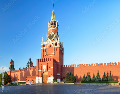 Keuken foto achterwand Aziatische Plekken Kremlin wall with tower, Russia - Moscow red square