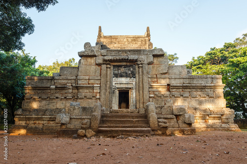Foto op Canvas Nalanda Gedige front view at sunny day, an ancient complete stone temple, Matale