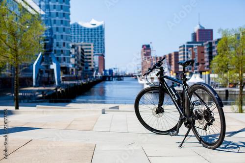 Aluminium Prints Bicycle Fahhrad in Hamburg