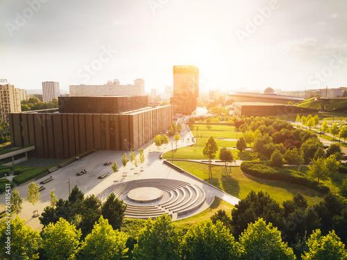 Obraz Katowice Strefa Kultury z powietrza - fototapety do salonu