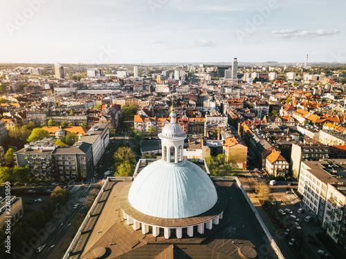 Katowice Katedra z powietrza