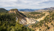 View from the Calcite Springs Overlook in Yellowstone National Park