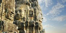 Carved Faces At Angkor Wat Te...