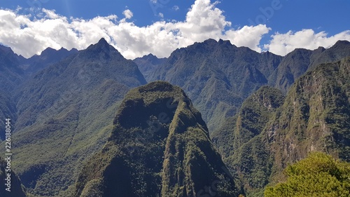 Spoed Foto op Canvas Zuid-Amerika land Vallée du Machu Picchu