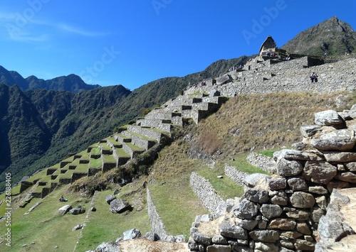 Spoed Foto op Canvas Zuid-Amerika land Terrasses au Machu Picchu