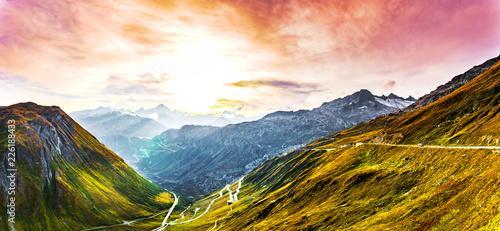 Foto auf Gartenposter Gebirge Alpenpanorama