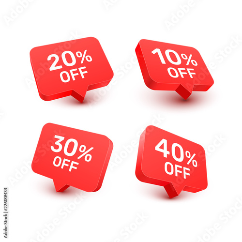 Fotografia Banner 20 10 30 40 off with share discount percentage