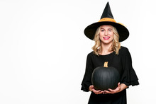 Halloween Witch Holding Large ...