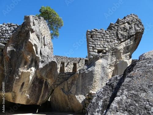 Spoed Foto op Canvas Zuid-Amerika land Pierres sacrées du machu Picchu