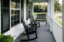 Front Porch Of Southern Home W...