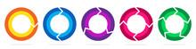 Set Of Circle Arrows. Vector I...