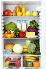 Open Fridge Full Of Vegetables...