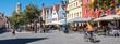 canvas print picture - Panorama Weiden in der Oberpfalz Altstadt