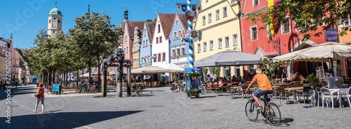 Foto auf AluDibond Europäische Regionen Panorama Weiden in der Oberpfalz Altstadt