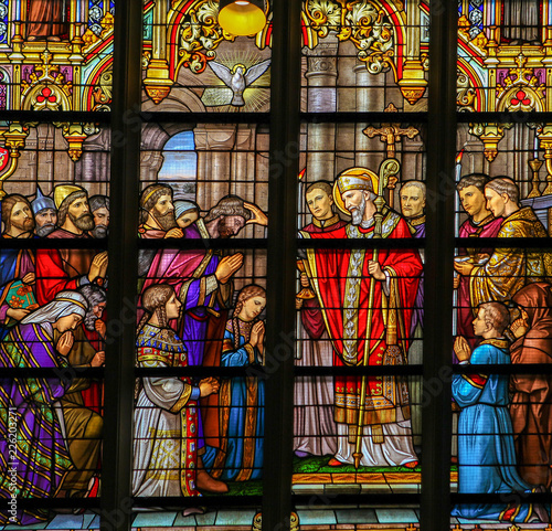 Stained Glass of the Confirmation in Den Bosch Cathedral Wallpaper Mural