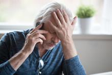 Frustrated Older Mature Retire...